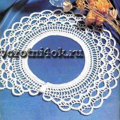 Crochet Bikini, Knit Crochet, Crochet Collar Pattern, Collars, Crochet Placemats, Rainbow Crochet, Lace Collar, Peter Pan, Crochet Designs