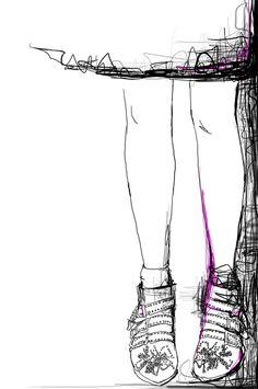 Garance Doré illustration  Chloé boots