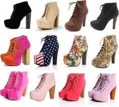 """""""Trend Alert: Lace-Up Platform Booties"""" by shoes-sushi-and-sparechange on Polyvore"""