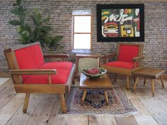 Vintage 50's Hall's Modern Living Room Set With by TheToyBox, $120.00