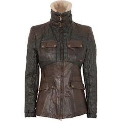 Belstaff Foxhall Waxed Leather Jacket (735 CAD) ❤ liked on Polyvore featuring outerwear, jackets, coats, coats & jackets, black and other, double zipper leather jacket, 100 leather jacket, black jacket, patch jacket en belstaff jacket