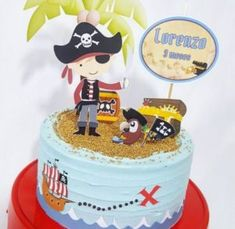 Topo de bolo ou Cake Topper - Tema de Pirata Birthday Cake, Birthday Parties, Cake Recipes, Baby Shower, Candy, Desserts, Food, Decorating Cakes, Parties