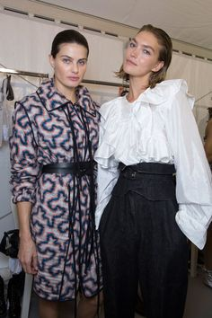 Isabel Marant at Paris Fashion Week Spring 2017 - Backstage Runway Photos