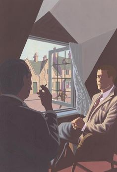 The Mysterious Affair at Styles by Agatha Christie. Folio edition. Illustration by Andrew Davidson.