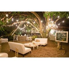 """Loving our lounge and bar set-up under the famous #mangotree at the #haikumill - PC: @aarondelesie ~ this Aussie-American wedding was also featured in…"""