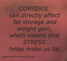 Reduce cortisol with stress reduction techniques. www.stopeatingyourheartout.com