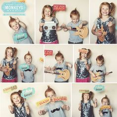 Free My Dad Rocks! Father's Day Photo Props - Frame for a perfect Father's Day gift idea.