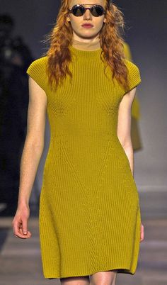 [colour, all-in-one cap sleeve & yoke & neckline] -- carven