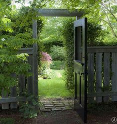 Cottage Landscape/Yard with Gate, exterior stone floors, Fence, 8 in. x 2-1/4 in. x 4 in. Clay Brick, Arbor, Pathway