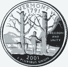 Learn about the Vermont 50 State Quarter. Access Vermont official state symbols with description and pictures. United States Mint, 50 States, State Quarters, Nation State, Mountain States, Commemorative Coins, Green Mountain, Vermont, Unity
