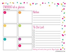 Printables For Organizing  Printable Weekly Calendar Weekly