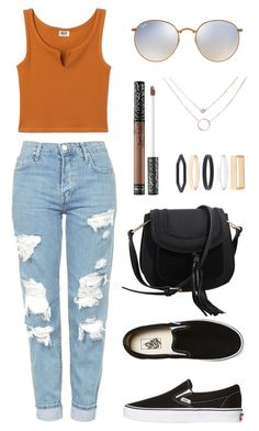 """Untitled #113"" by jasmine-663 on Polyvore featuring Topshop, Vans, MKF Collection, Ray-Ban, Kat Von D and Accessorize"