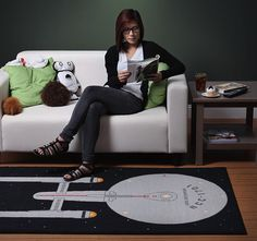Star Trek Enterprise Rug - we DO need a rug for the nursery.....