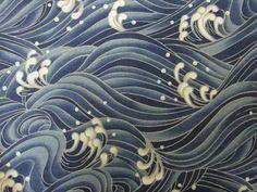Japanese Cotton Kimono Fabric - Traditional Crashing Waves Pattern, via Flickr.