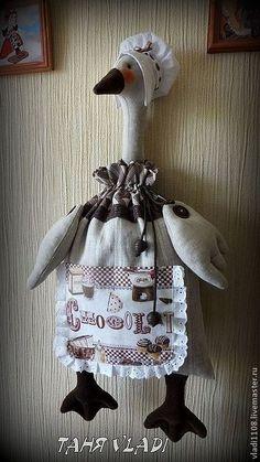Купить Шоколадница (пакетница) - коричневый, пакетница, хранение, мешочек, лен, льняной, кантри, гусь-пакетница