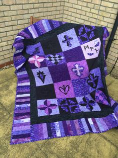 Purple and Black Gothic Buffy the Vampire Slayer Quilt