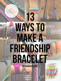 It's summer ya'll and there is something about summer that begs for friendship bracelets. There are so many ways to make a friendship bra... Camping Accessories, Diy Accessories, Bracelet Crafts, Jewelry Crafts, Hemp Jewelry, Loom Bracelets, Macrame Bracelets, Jewlery, Bracelet Making