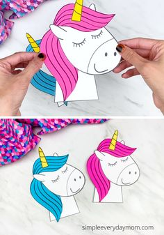 This simple and fun unicorn craft is a great boredom buster for boys and girls! Download the free printable template and make today!   #simpleeverydaymom Unicorn Themed Birthday Party, Birthday Party Themes, Unicorn Books, Unicorn Coloring Pages, Unicorn Crafts, Learning The Alphabet, Craft Free, Cute Unicorn, Easy Crafts For Kids