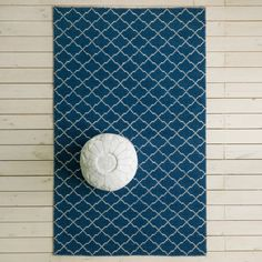 Aztec Navy and White Rug Navy And White Rug, White Rugs, Ikea Rug, Round Rugs, Contemporary Rugs, Aztec Rug, Soft Furnishings, Hand Knotted Rugs, Rugs On Carpet