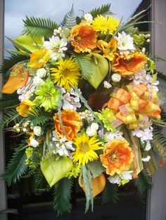 TROPICANA  XL Tropical Summer Wreath by DecorClassicFlorals, $149.95