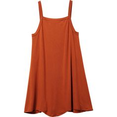 RVCA Women's Thievery Scalloped Swing Dress ($39) ❤ liked on Polyvore featuring dresses, vestidos, ginger, red trapeze dress, rvca dresses, tent dresses, straight dresses and trapeze dress