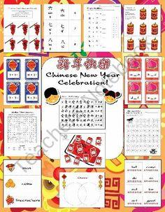 Chinese New Year Celebration ...Math, Language & More product from TheTeachersResourceRoom on TeachersNotebook.com