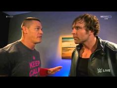 Dean Ambrose and John Cena Funny Backstage segment : Raw,2014 (Full Backstage segment) - YouTube