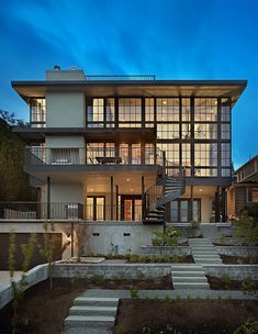 Prospect House celebrates a stunning Seattle panorama while accommodating a modest budget and a family with two young children, by Janof Architecture.