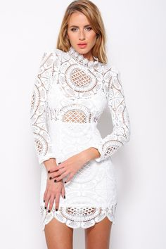 "BALMANIA Mischa ""Mermaid Song"" Crochet Laces Dress (2 colors available)"