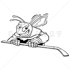 Mascot Clipart Image of Ice Hockey Bee Graphic http://www.rivalart ...