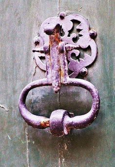 ~` door knocker `~ pretty in purple