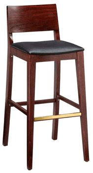 Our Mid-Century Bar Stool combines sleek modern lines with solid beechwood construction for a perfect addition to your bar, restaurant, or club. Available with either a wood or upholstered seat. Restaurant Bar Stools, Woods Restaurant, Restaurant Chairs For Sale, Restaurant Furniture, Restaurant Design, Restaurant Ideas, Cool Chairs, Bar Chairs, Office Chairs