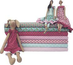 Tildas feitas com a coleção 033 - Artes da Matilda by Fabricart Tecidos www.tecidosfabricart.com.br