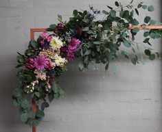 Copper and floral arch by Floral Arch, Floral Wreath, Got Married, Getting Married, Arches, Florals, Our Wedding, Copper, The Incredibles