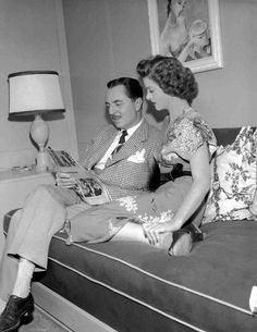 William Powell and Myrna Loy on the set of The Thin Man Goes Home