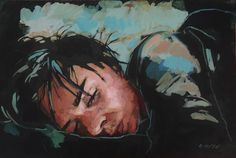 Exploring the human phyche through portrait painting is a complex and absorbing process. Here I painted a woman sleeping, although asleep she still holds her emotions on her exterior. Exploring, Exterior, Woman, Portrait, Painting, Fictional Characters, Art, Art Background, Headshot Photography