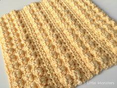 5 Little Monsters: Bobble Stripe Crochet Dishcloth
