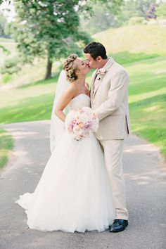 Photography: K. Holly Photography - www.kholly.com  Read More: http://www.stylemepretty.com/2015/05/18/romantic-blush-pink-michigan-wedding/