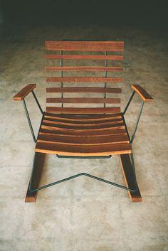 Cask Rocker, handcrafted rocking chair, rustic modern. $650.00, via Etsy.