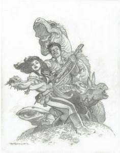 Jack & Hannah from Xenozoic Tales, by Mark Schultz