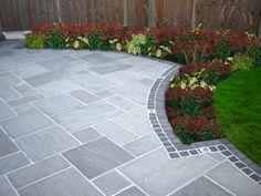 grey indian sandstone patio - Google Search