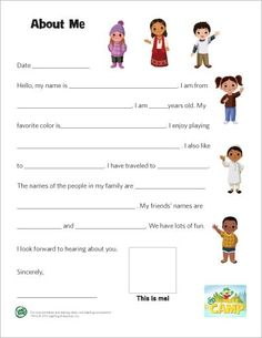 Free Pen Pal Printables for Kids | Teaching, The crush and ...