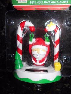 Solar Powered Swinging Santa!  NIP!