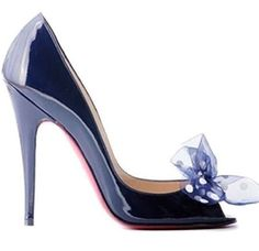 Blue Hues | Christian LABOUTIN | Luxurydotcom/NOW YOU'RE TALKIN.......♥