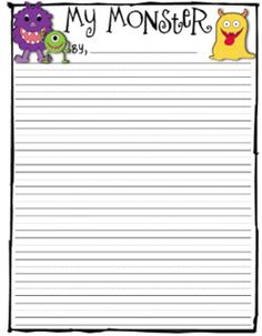 Monster Descriptive Writing freebie
