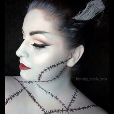 #Halloween #SephoraSelfie look: Bride of Frankenstein by brittany_nicole_mua. Tag your pics with #SephoraSelfie for a chance to be featured!