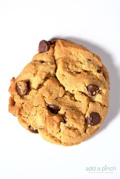 Peanut Butter Chocolate Chip Cookies Recipe - So easy and out of this world delicious! They make an amazing bakery style cookie everyone loves!  from addapinch.com