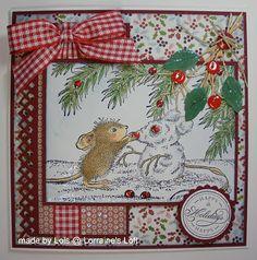 House Mouse are so adorable. Xmas Cards, Fun Cards, Valentine Cards, Holiday Cards, Card Tags, I Card, Handmade Christmas, Christmas Crafts, House Mouse Stamps