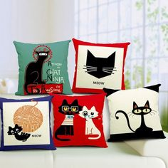 Sophisticated Cat Cushions – MeowIsNow.com