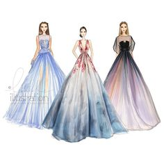 Revisiting my favorite gowns by Elie Saab tonight. Did you guys catch Lily Collins in an ombre Elie Saab couture at the Rome Film Festival? Illustration Mode, Fashion Illustration Sketches, Fashion Sketchbook, Fashion Sketches, Arte Fashion, Moda Fashion, Manequin, Elie Saab Couture, Dress Sketches